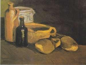 Obraz olejny - van Gogh - Martwa natura z chodakami i naczyniami