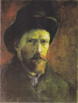 Obraz - van Gogh - Autoportret w ciemnym pilśniowym kapeluszu