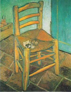 Obraz van Gogha - Krzesło artysty