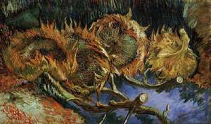 Obraz 'Słoneczniki' van Gogha.