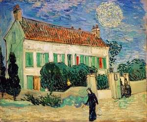 Obraz van Gogha - Biały dom w nocy - White House at Night