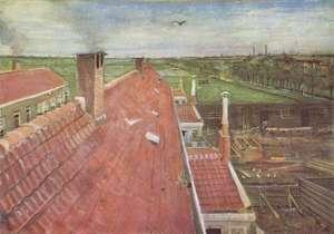 van Gogh - Dachy widok z atelier - Rooftops