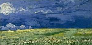 Obraz van Gogha - Pola pszenicy przed burzą