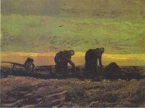 Obraz van Gogha - Dwie chłopki kopiące torf - Two Women in the Moor