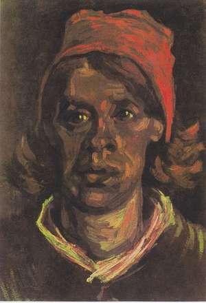 Obraz van Gogha - Głowa wieśniaczki w czerwonym czepcu